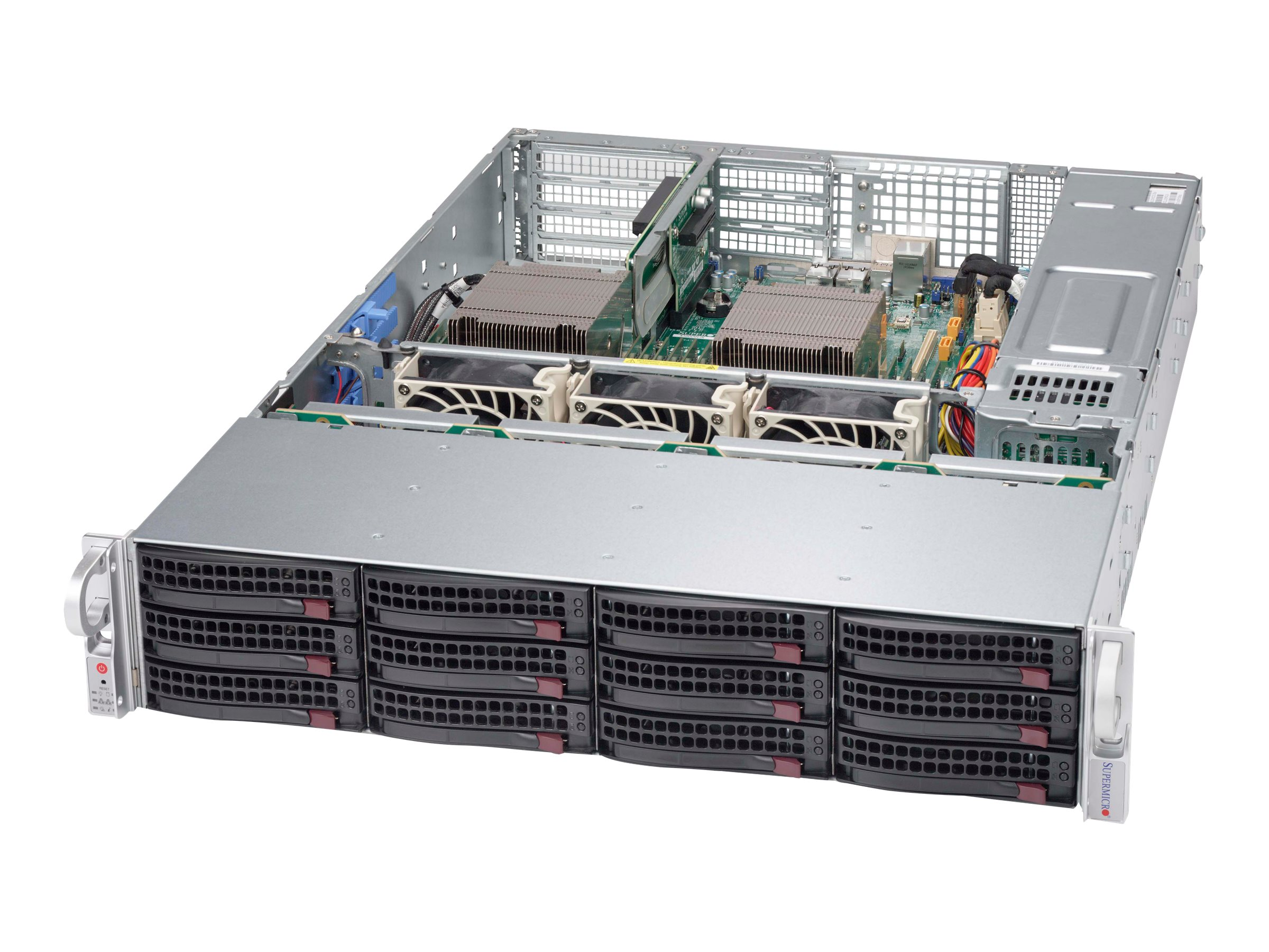 Supermicro Chassis, SuperChassis 826BAC4 2U RM (2x)Intel AMD Family 2x920W, Black