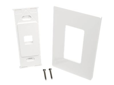 Tripp Lite Single-Gang Universal Keystone Wallplate, 1-Port, White, N080-101