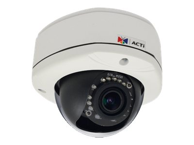 Acti 1MP Outdoor Dome Camera w  D N, IR & Vari-focal Lens