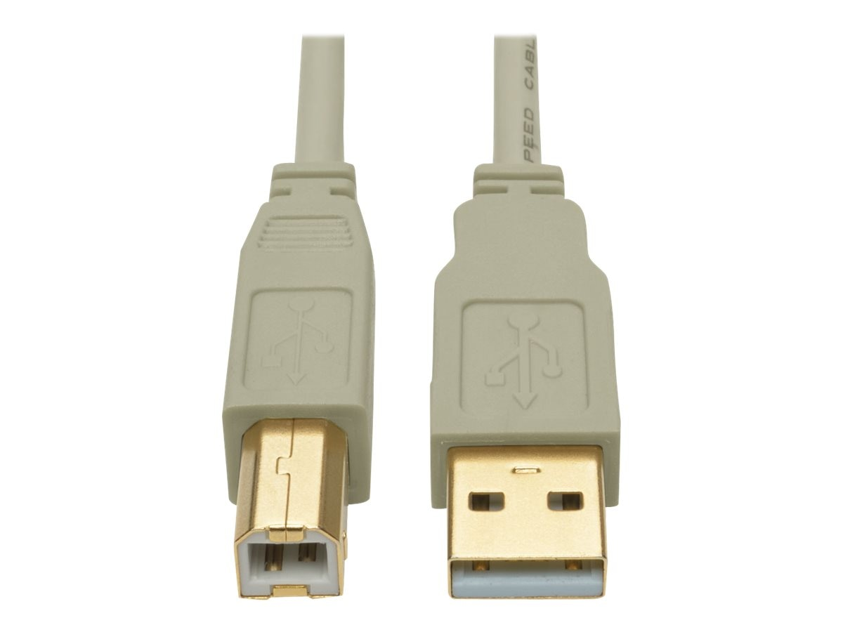 Tripp Lite USB 2.0 Hi-Speed Type A to Type B M M Cable, Beige, 15ft