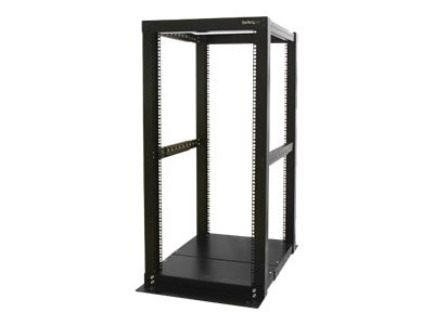 StarTech.com 4-Post Server Open Frame Rack Cabinet, 25U, 4POSTRACK25