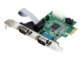StarTech.com 2 Port Native PCI Express RS232 Serial Adapter Card with 16950 UART, PEX2S952, 9081898, Controller Cards & I/O Boards