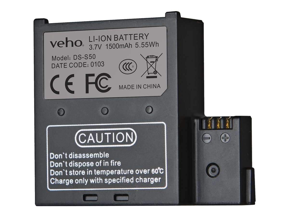 VEHO 1500mah Spare Battery for Muvi, VCC-A034-SB
