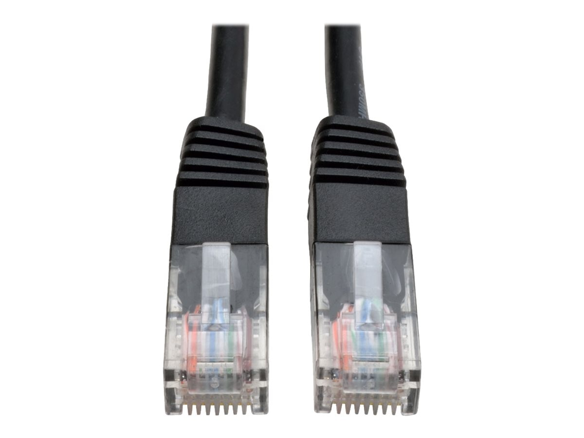 Tripp Lite Cat5e RJ-45 M M 350MHz Molded Patch Cable, Black, 1ft, N002-001-BK