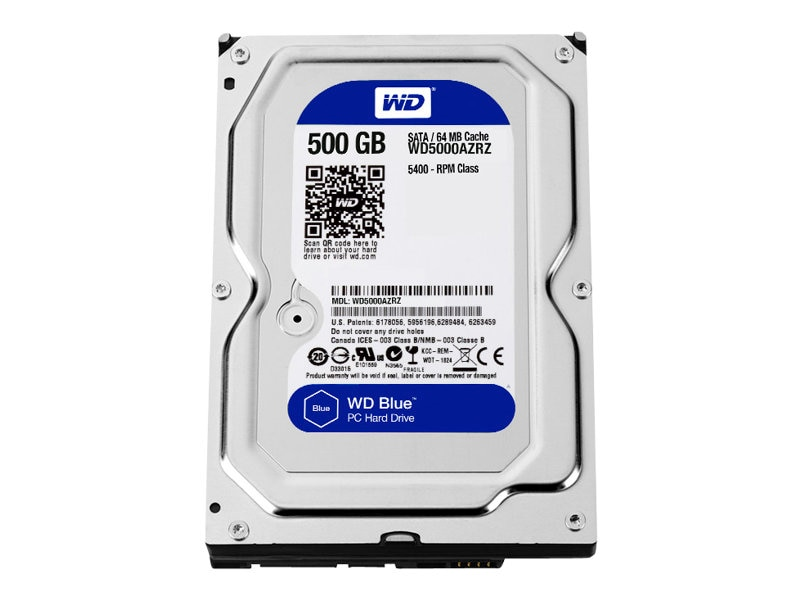 WD 500GB WD Blue SATA 3.5 Internal Hard Drive, WD5000AZRZ