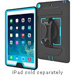 Incipio Capture Ultra-Rugged Case w  Rotating Hand Strap for iPad Air, Black Cyan