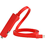 Technocel RIBBN Car Charger   Lightning 4.8A, Red