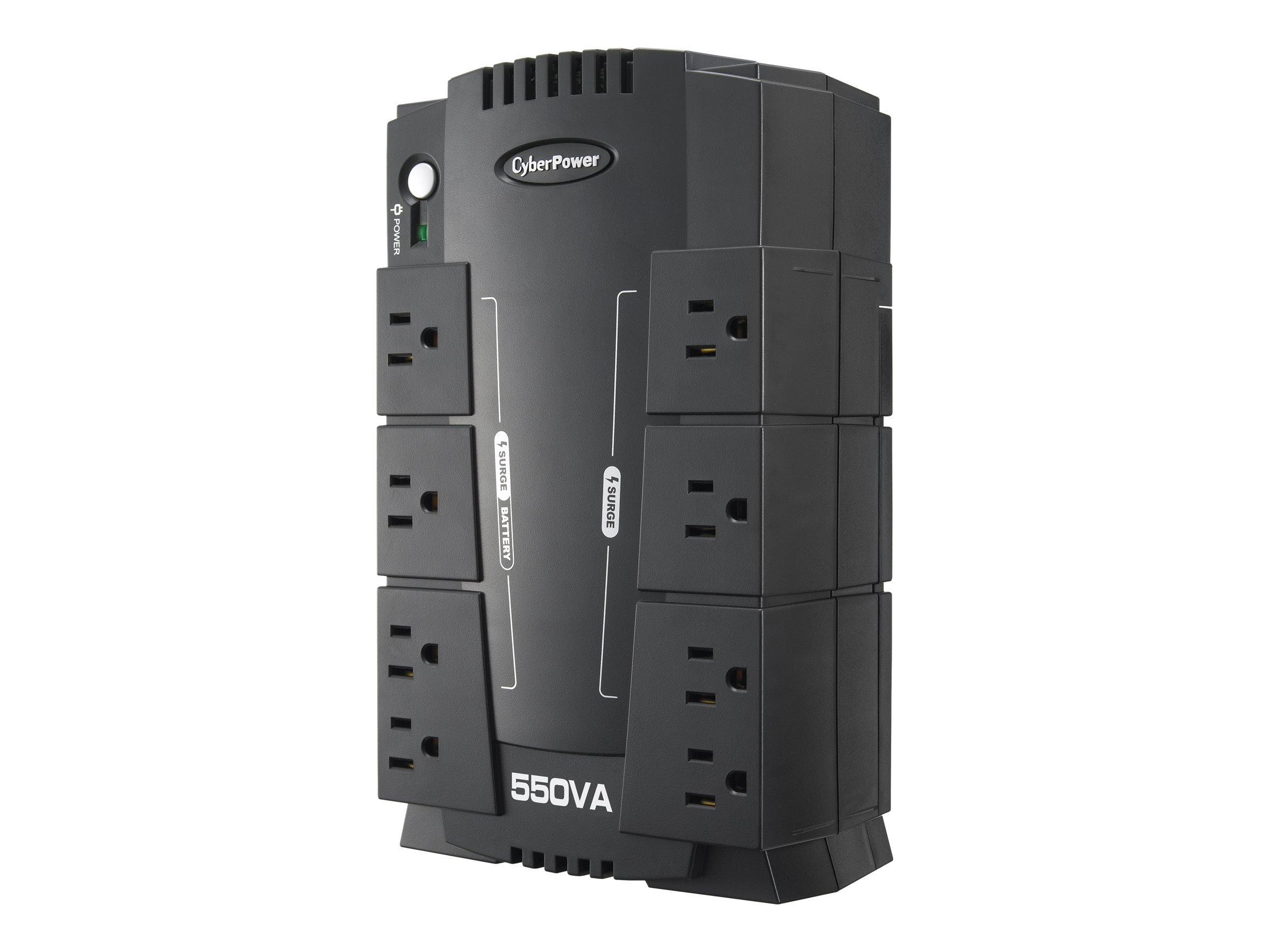 CyberPower 550VA Standby Green UPS (8) 5-15R Outlets USB, Management Software, CP550SLG, 10896331, Battery Backup/UPS