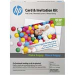 HP Card & Invitation Kit for 5 x 7 Glossy Rounded Corner Flat Cards (25-Sheets & Envelopes), K6B84A, 31344201, Paper, Labels & Other Print Media