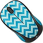 Logitech M317C Wireless Mouse, Teal Chevron (EOL Deal), 910-004508, 31478373, Mice & Cursor Control Devices
