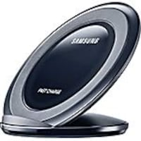 Samsung Fast Charge Wireless Charging Stand, Black Sapphire, EP-NG930TBUGUS, 31564677, Battery Chargers