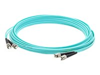 ACP-EP ST-ST Laser-Optomized Multi-Mode Fiber (LOMM) OM4 Duplex Patch Cable, Aqua, 30m, ADD-ST-ST-30M5OM4