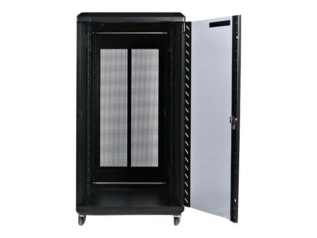 StarTech.com 22U 36in Server Rack Cabinet with Glass Door, RK2236BKF