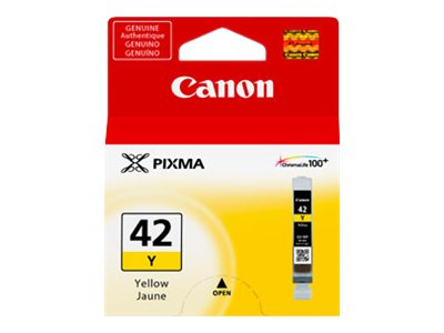 Canon Yellow CLI-42Y Ink Cartridge, 6387B002