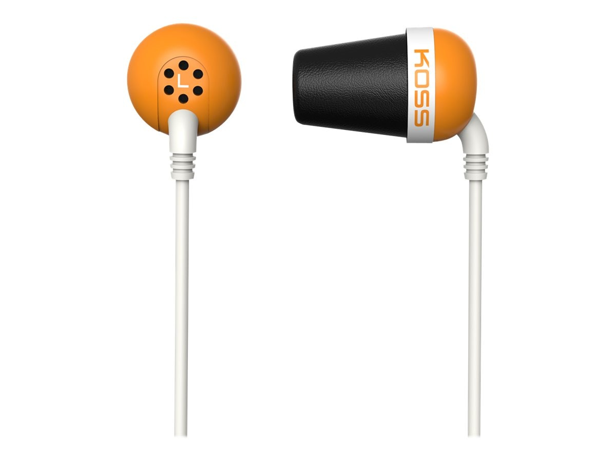 Koss Noise Isolating Ear Bud - Orange, PLUG O, 16910471, Headphones