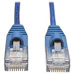 Tripp Lite Cat5e 350MHz Snagless Molded Slim UTP Patch Cable, Blue, 5ft
