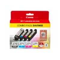Canon PGI-270 CLI-271 Combo Ink Pack, 0373C005AA, 31802102, Toner and Imaging Components