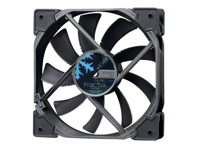 Fractal Design Venturi HF-12 120mm Fan, Black, FD-FAN-VENT-HF12-BK