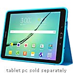 Incipio Octane Co-Molded Impact Absorbing Folio for Samsung Galaxy Tab S2 9.7, Blue Frost, SA-681-BLU, 31959468, Carrying Cases - Tablets & eReaders