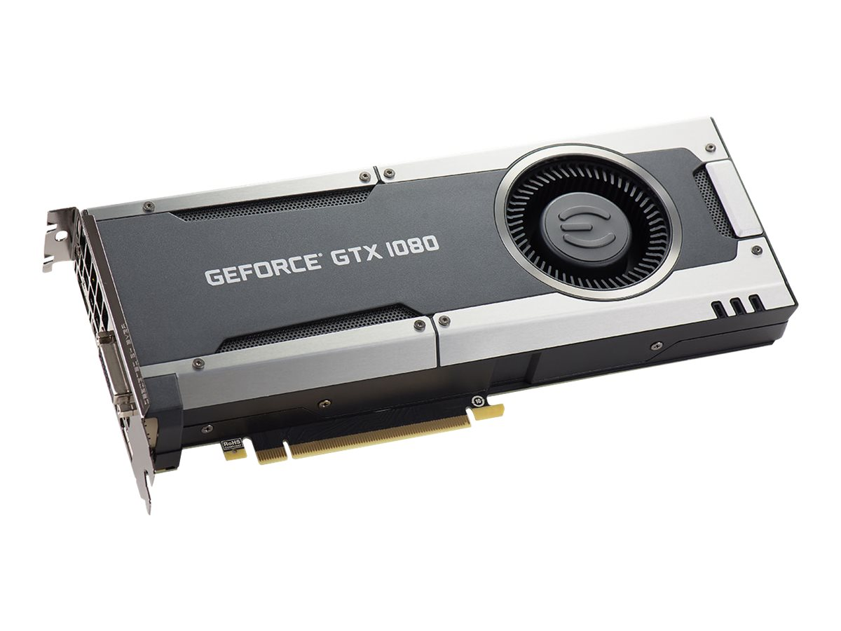 eVGA GeForce GTX1080 PCIe 3.0 x16 Graphics Card, 8GB GDDR5X, 08G-P4-5180-KR