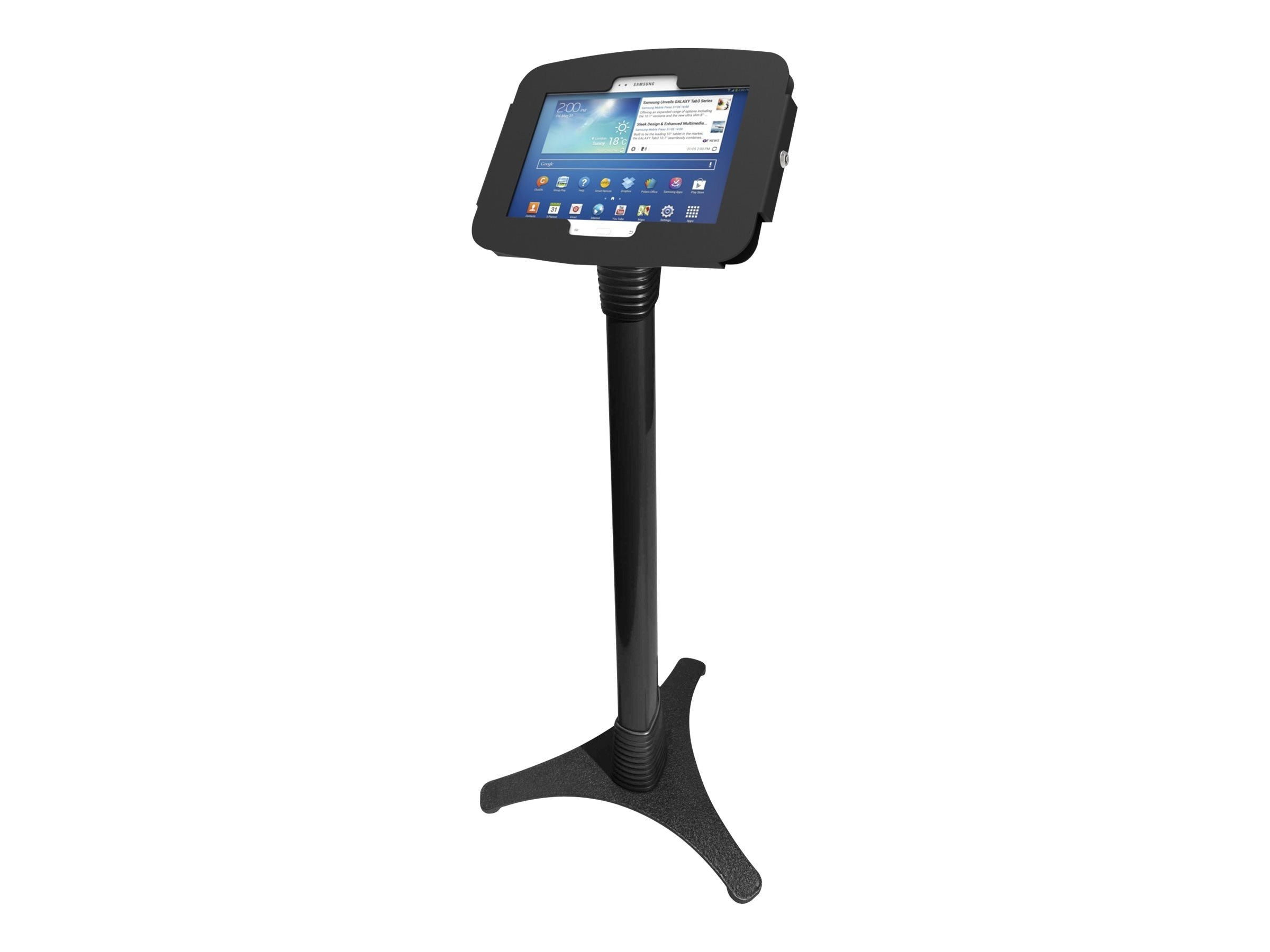 Compulocks Space Adjustable Floor Stand Kiosk for Galaxy Tab A 8, 147B680AGEB
