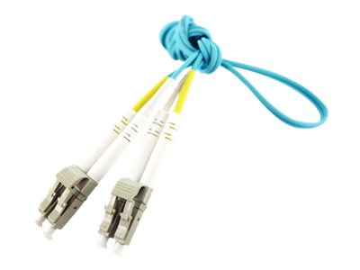 Axiom LC-LC OM4 Multimode BENDnFLEX Silver Duplex Fiber Optic Cable, 12m, LCLCB4PAS12-AX