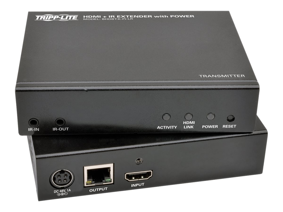 Tripp Lite HDBaseT HDMI over Cat5e 6 6a 4K x 2K Extender Kit with Ethernet, Power, Serial and IR Control, BHDBT-K-E3SPI-L, 30968389, Video Extenders & Splitters