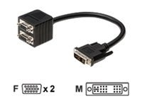 Belkin Analog Y-Splitter, DVI Single Link (M) to 2 HD-15 (F), F2E7902-01-SV, 7637338, Adapters & Port Converters