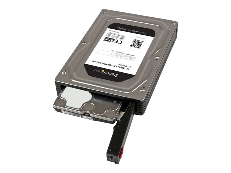 """StarTech.com 2.5"""" to 3.5"""" SATA Aluminum Hard Drive Adapter Enclosure w  Solid State Hard Drive Height to 12.5mm"""