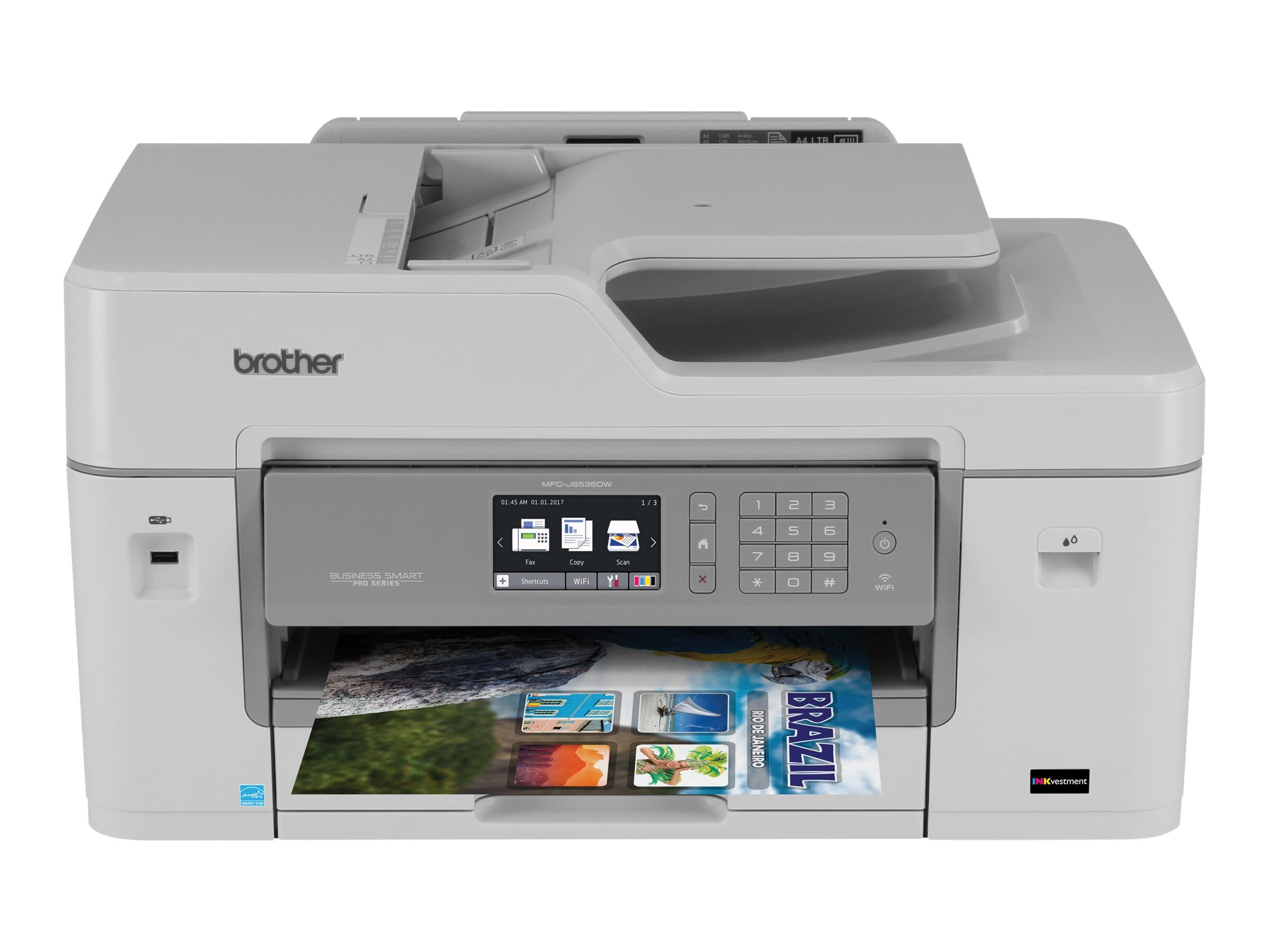 Brother MFC-J6535DW XL Business Smart Pro All-In-One w  (20) INKvestment Cartridges