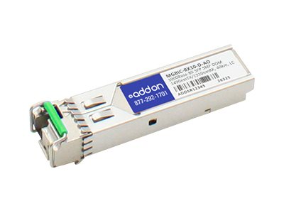 ACP-EP AddOn 1000BASE-BX SFP For Enterasys, MGBIC-BX10-D-AO