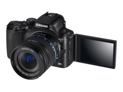 Samsung NX20 Mirrorless Wi-Fi Digital Camera, 20.3MP, with 18-55mm Lens, Black, EV-NX20ZZBSBUS