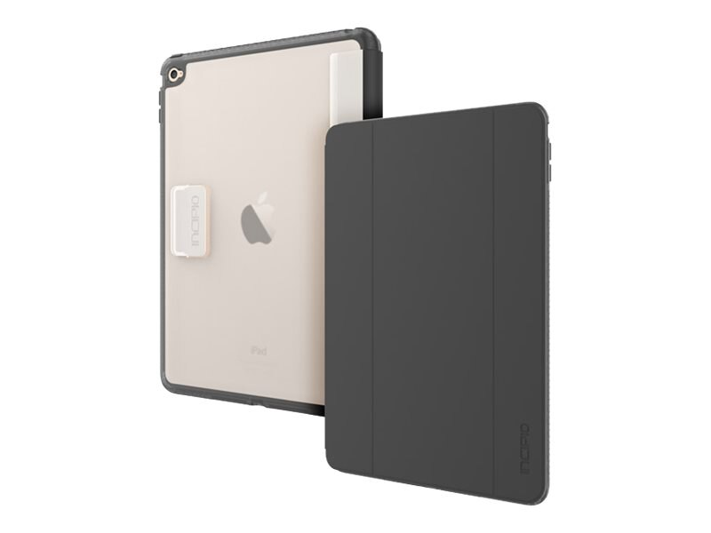 Incipio Octane Folio Co-Molded Impact Absorbing Folio for iPad Air 2, Frost Black, IPD-352-BLK