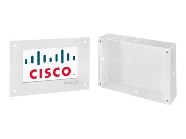 Avteq Flush Mounted Wall Mount for Cisco Touch 10 (Powder Coated White), C10-WM-GWHT, 30931210, Audio/Video Conference Hardware