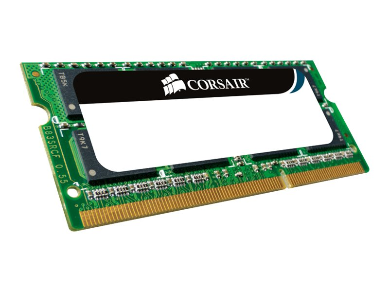 Corsair 1GB PC3200 400MHz 200-pin Non-ECC Unbuffered CL3 DDR SDRAM SODIMM, VS1GSDS400, 5793556, Memory