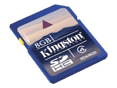 Kingston 8GB SDHC Flash Memory Card, Class 4