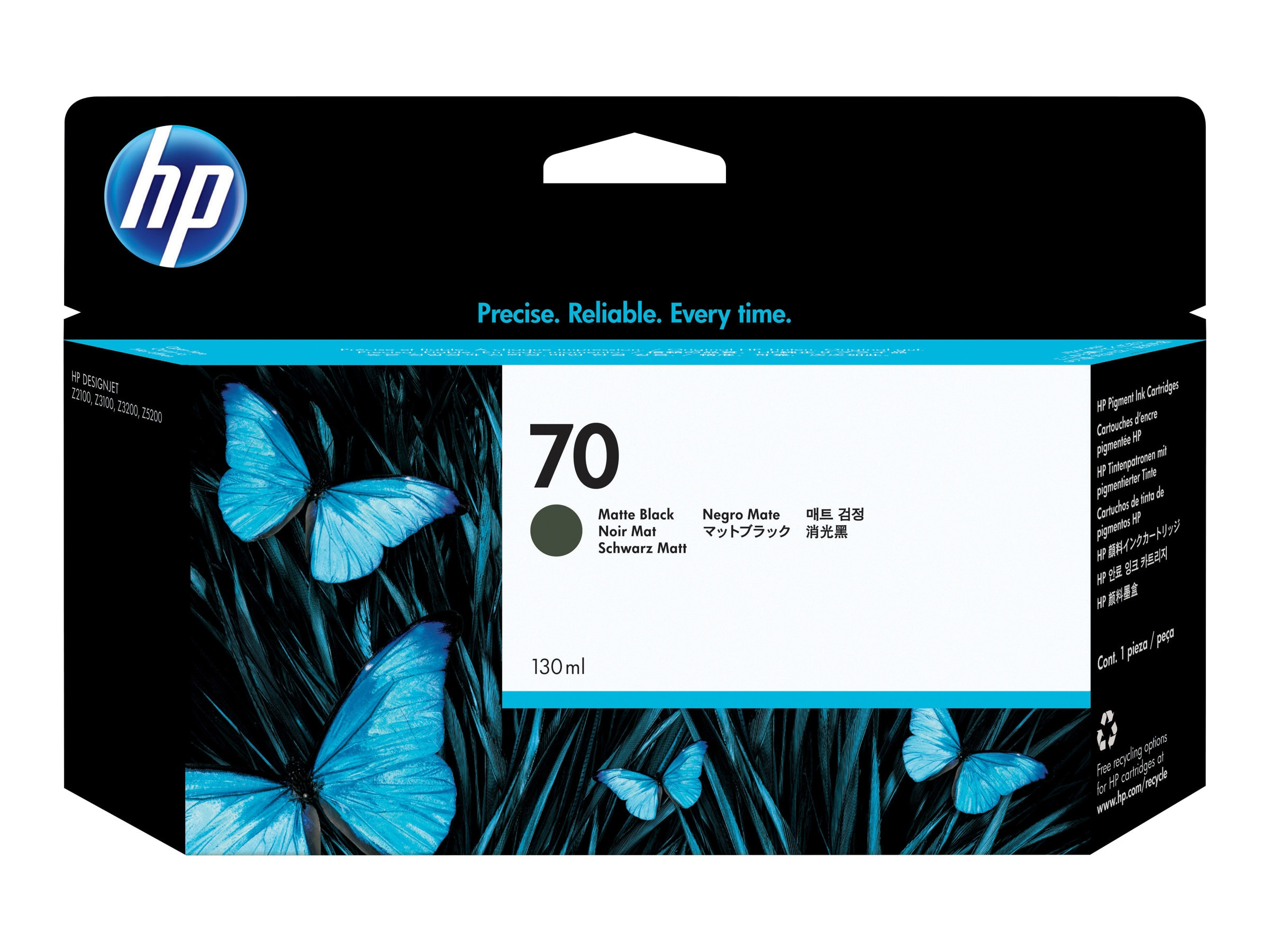 HP 70 Matte Black Ink Cartridge for HP DesignJet Z2100 & Z3100 Printers