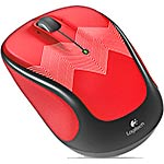 Logitech M325c Wireless Optical Mouse, Red Zigzag [CLOSEOUT DEAL]