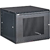 Kendall Howard 9U LINIER Swing-Out Wall Mount Cabinet, Vented Door, Black, 3132-3-001-09, 32183876, Racks & Cabinets