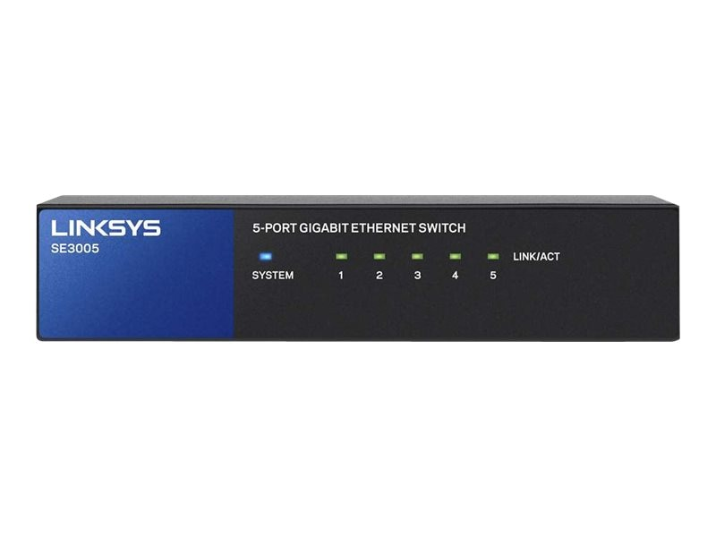 Linksys 5-Port GbE Switch, SE3005, 31189133, Network Switches