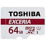 Toshiba 64GB M302 MicroSDXC Flash Memory Card with Adapter, Class 10
