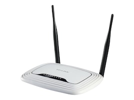 TP-LINK Wireless N300 Home Router, 300Mpbs, IP QoS, WPS Button, TL-WR841N, 13819509, Wireless Routers