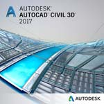 Autodesk Corp. AutoCAD Civil 3D 2017 Commercial New Single-user ELD Annual Sub with Basic Support SPZD