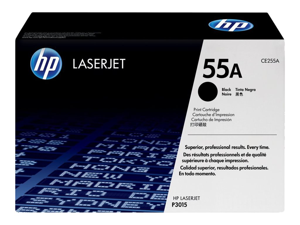 HP 55A (CE255A) Black Original LaserJet Toner Cartridge for HP LaserJet P3015 Printer, CE255A, 9916533, Toner and Imaging Components