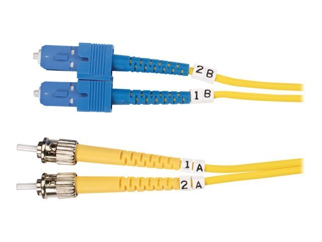 Black Box Patch Cable, ST-SC, Single Mode, Yellow, 2m