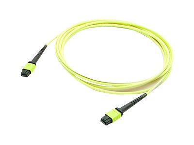 ACP-EP OS1 Fiber Patch Cable, MPO-MPO, 9 125, Single-Mode, Duplex, Yellow, 50m, ADD-MPOMPO-50M9SMS