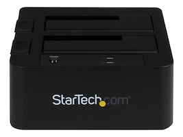 StarTech.com eSATA USB 3.0 Dual Hard Drive Solid State Drive Dock w  UASP for SATA 6Gb s 2.5 3.5 Drives, SDOCK2U33EB, 17394886, Hard Drive Enclosures - Multiple