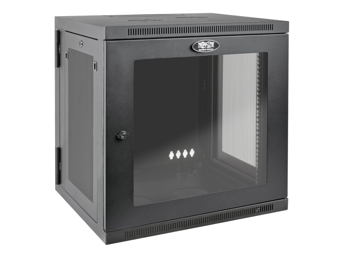 Tripp Lite SmartRack 12U UPS-Depth Wall-Mount Rack Enclosure Cabinet with Clear Acrylic Window, Hinged Back, SRW12USDPG, 31299332, Racks & Cabinets