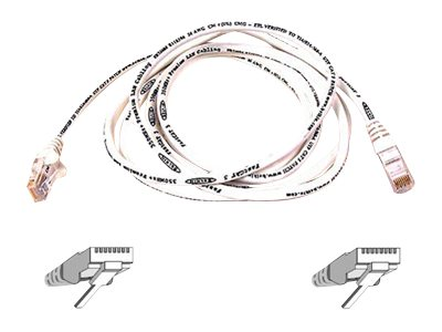 Belkin Cat5e Non-Booted UTP Patch Cable, White, 6, A3L791-06IN-WHT, 17507967, Cables