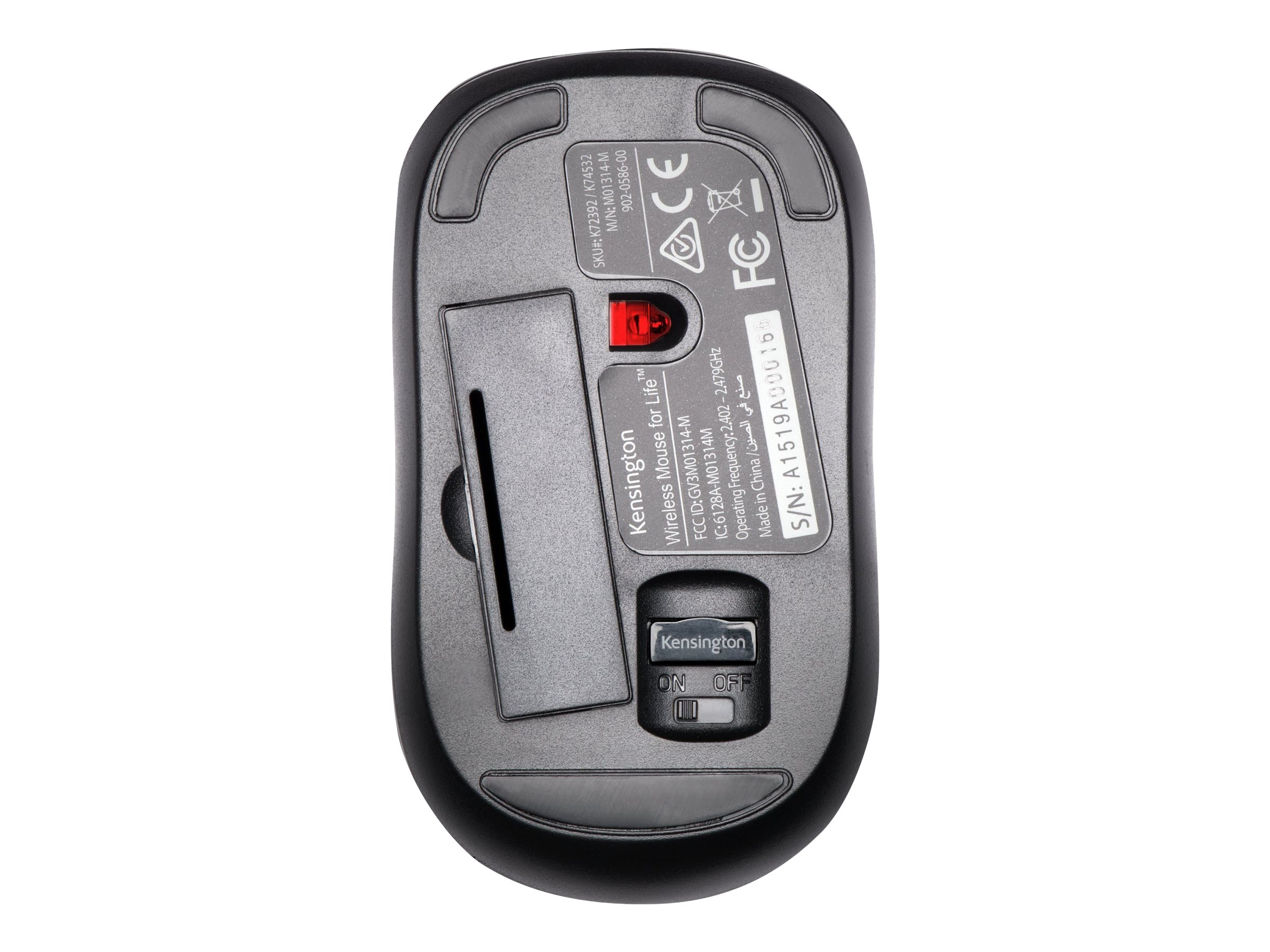 Kensington Mouse for Life Wireless 3-Button USB w  Scroll Wheel, K72392US